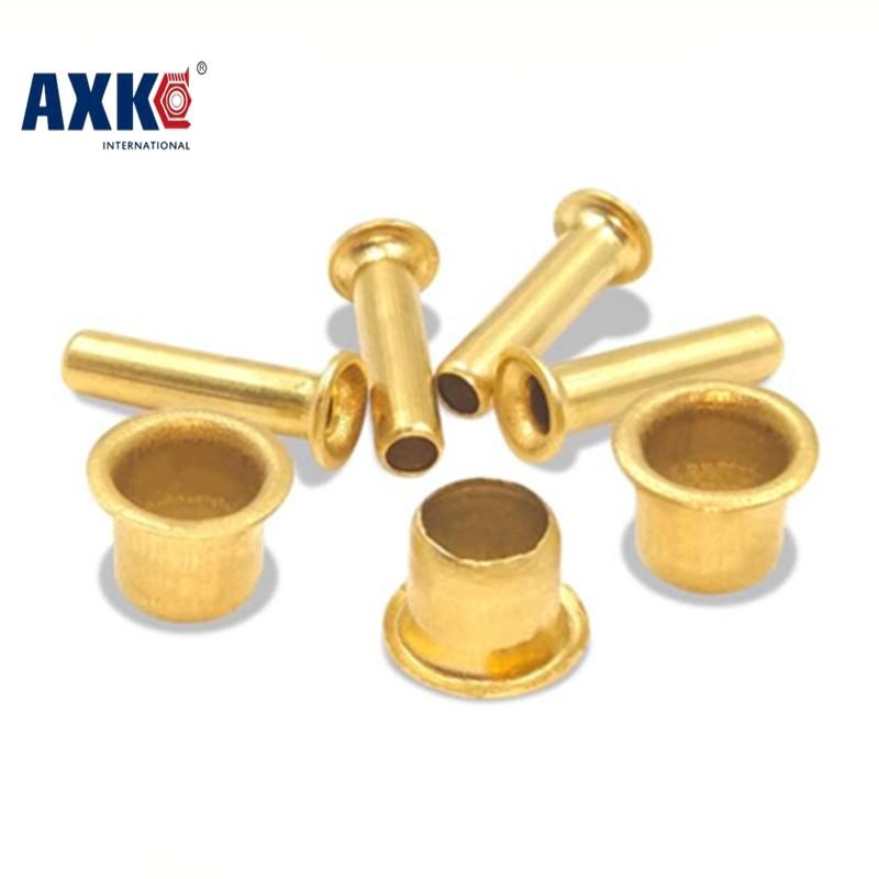 100-200pcs/lot M6*4-12 M5*4-12 M3 5*4-8 M3 2*3 hollow copper rivet brass  corns double side circuit board PCB vias nails