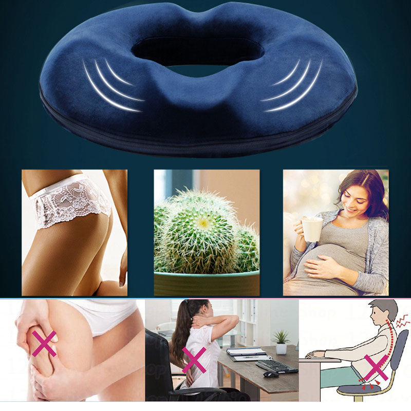 Anti Hemorrhoid  Massage Chair Seat Cushion Hip Push Up Yoga Orthopedic Comfort Foam Tailbone Pillow Car Office Seat Cushion D