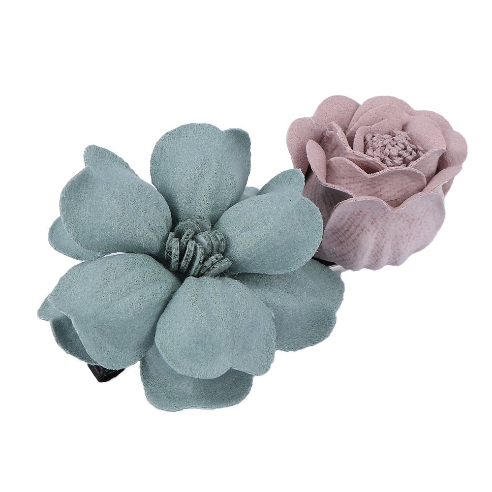 handmade fabric flower hairpins