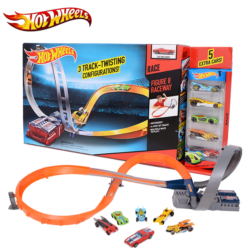 Hot Wheels Sport Car Toy Plastic Track Vehicles Kid Toys Hot Sale Hotwheels Cars Track X2586 Multifunctional Classic Boy Toy Car electronic hot wheels track exclusive figure 8 raceway with 6 cars motorized 3 track layouts educational truck toy for boy x2586