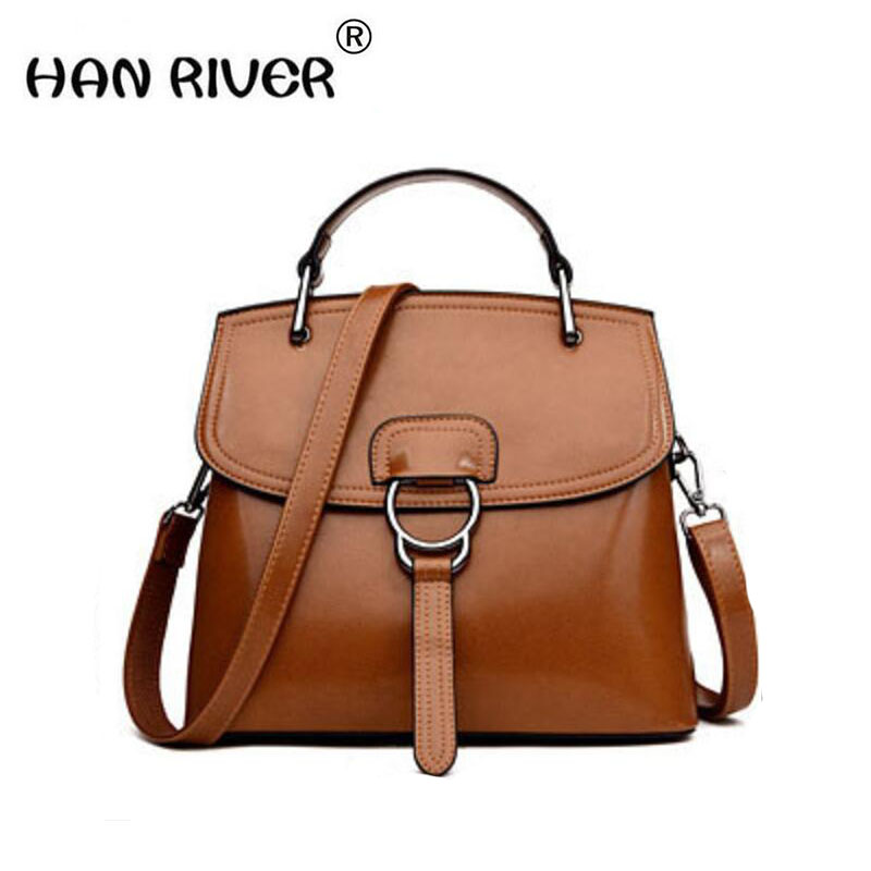 2018 new Korean high-quality leather handbag with high quality leather handbag with elegant handbag with a fashion one-shoulder high quality