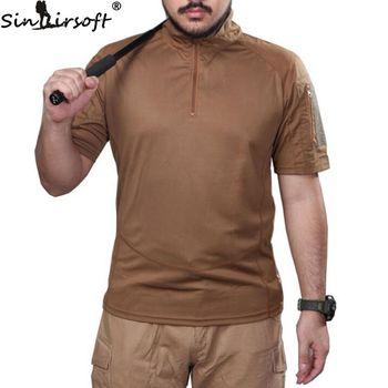 SINAIRSOFT camuflaje ropa de caza Airsoft T-shirt deportes al aire libre  Camping senderismo supervivencia camisa traje táctico Paintball Gear 6efcd7319ca