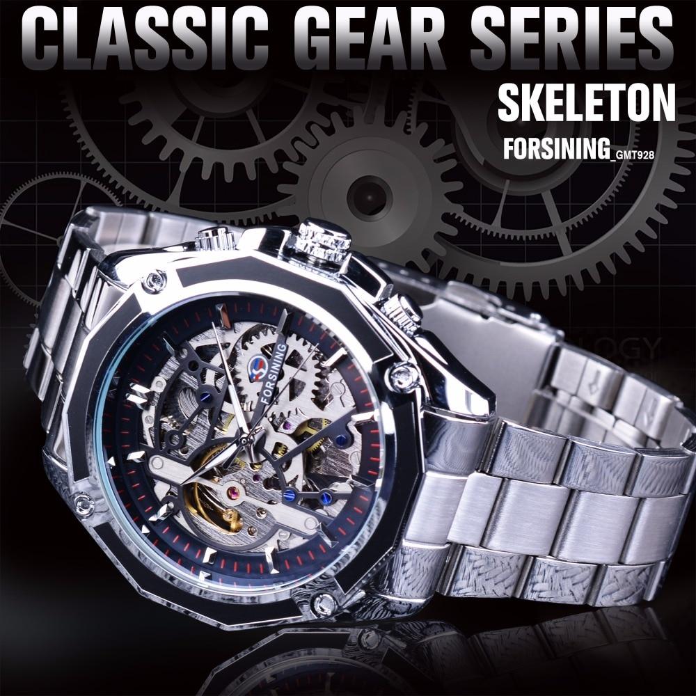 Forsining Μηχανική Steampunk Σχεδιασμός Μόδα - Ανδρικά ρολόγια - Φωτογραφία 2