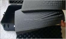50*40*5cm pick and pluck foam camera box Anti-collision shock aluminum frame luggage precision instrument sponge