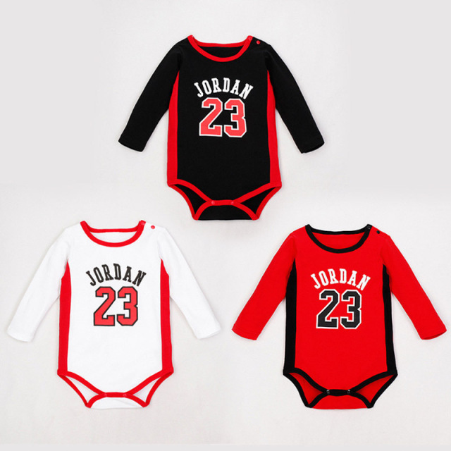 8dbeeced280e Naughty Baby Basketball Clothes Jordan Baby Sport Body Baby Boy Clothes  Romper