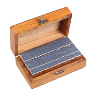 V1NF 70pcs Cursive Characters Alphabet Number Symbol Rubber Stamps With Wood Box