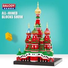 كتل صغيرة العمارة نموذج قوالب بناء صغيرة سلسلة بالودي الماس لعبة كاتدرائية متوافقة مدينة لعبة للأطفال هدية