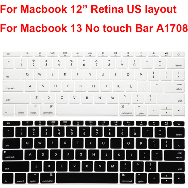 separation shoes 2a648 eb0dd US $1.33 5% OFF|For Macbook Pro 13 No Touch Bar A1708 Keyboard Cover Skin  Protector US style Keyboard Guard Shell for Macbook Retina 12 inch-in ...