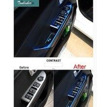 Tonlinker чехол Стикеры для KIA K2 РИО 2011-16 стайлинга автомобилей 4 шт. нержавеющей Сталь двери межкомнатные windows лифт Стикеры