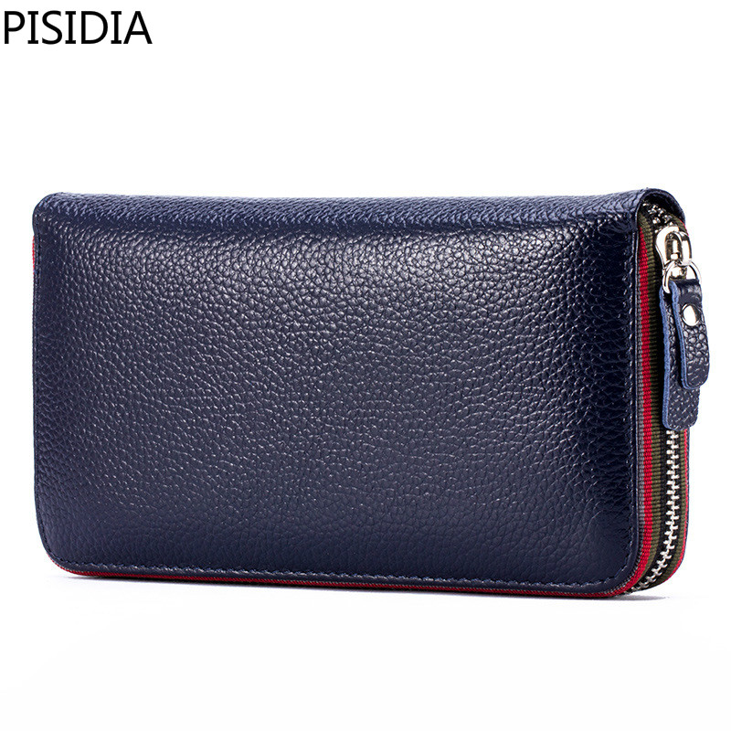 Long Women Wallet with Interior Moblie Female Large Purse Perse Carteira Woman Genuine Leather Card Holder Money Bag Ladies Coin