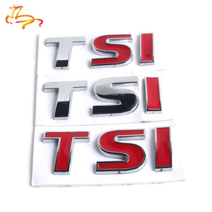 Brand 3D Metal TSI Emblem Car Styling Badge Sticker Decal for VW Volkswagen Tiguan Polo Golf 4 5 6 MK6 TSI Car-Styling 8*2.3cm R