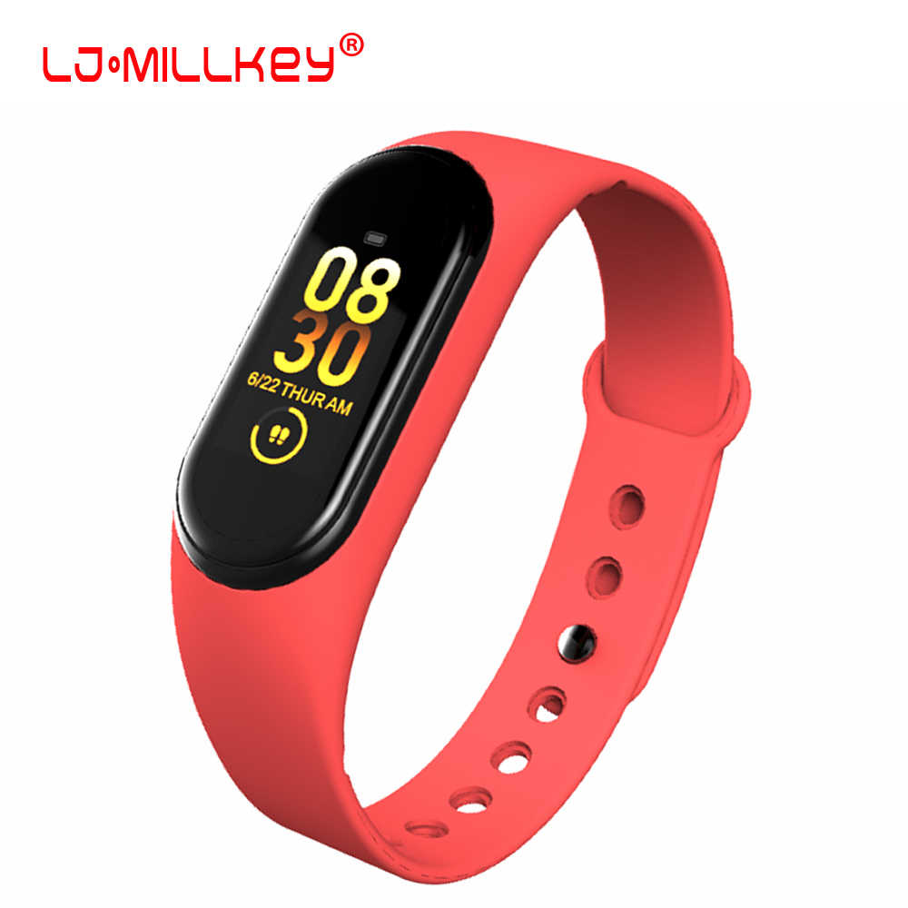 M4 Smart Watch Heart Rate Monitor Fitness Tracker Smartwatch Color Screen Blood Pressure Pedomater PK Mi Band 3 Y5 115Plus