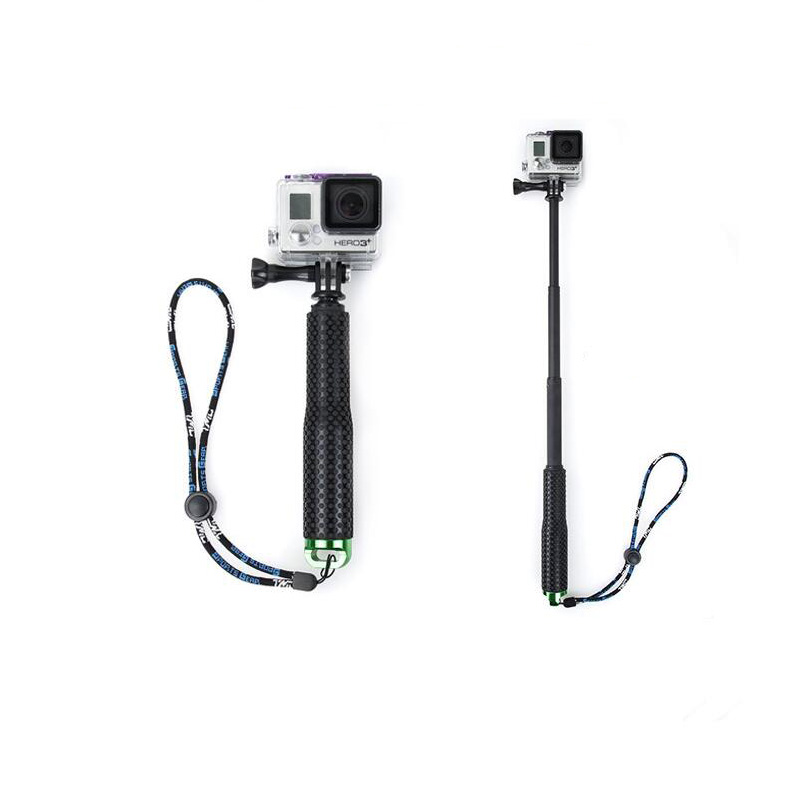 Selfiestick 190mm-490mm Augstas kvalitātes monopods gopro4 / gopro3 / 3 + / 2 SJ4000 darbības kamerai Selfie sticks sporta kamerai
