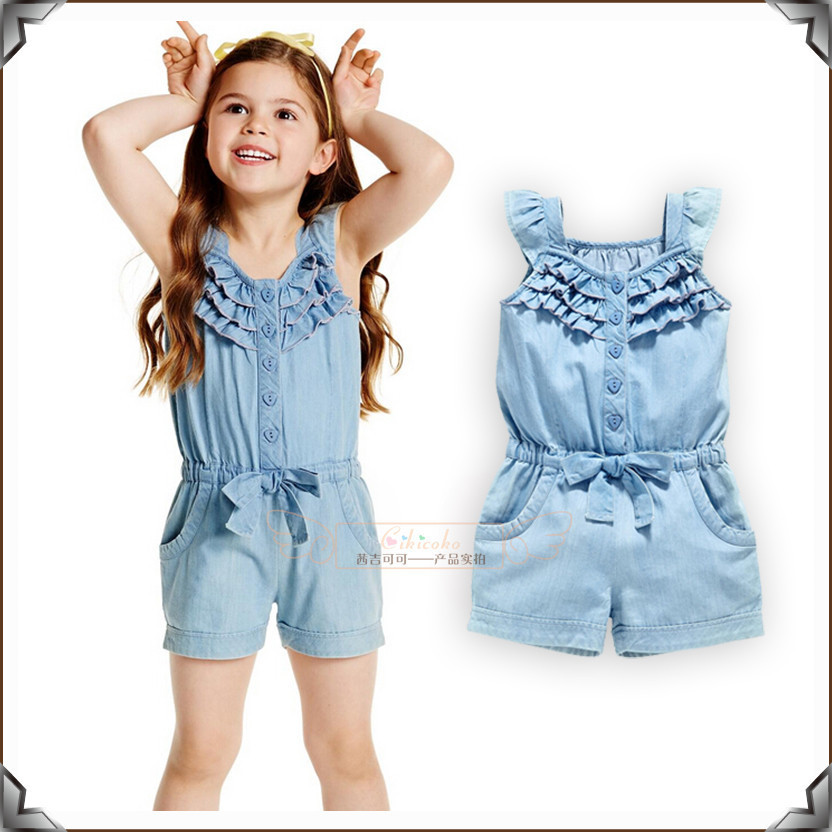 2017 Summer Kids Girls Clothes Baby Girls Lace Rompers ...