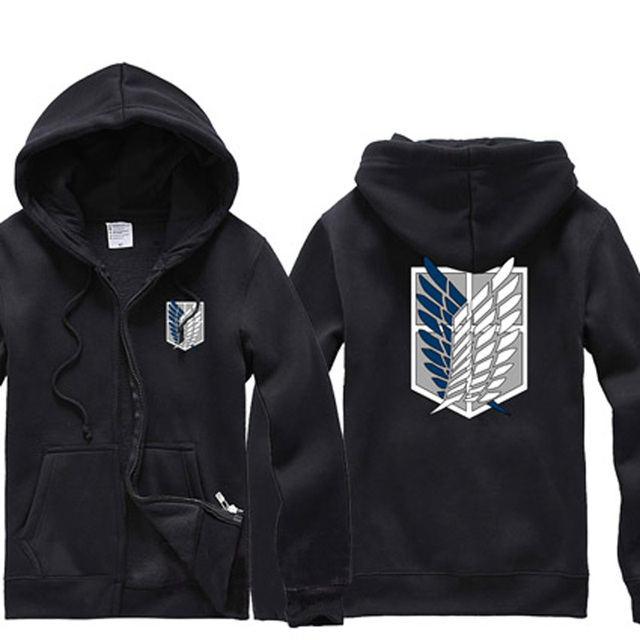Anime Attack on Titan Denim Hoodie Jacket Women Men Survey Corps Fake-two Button Down Jeans Coat Outerwear Cosplay
