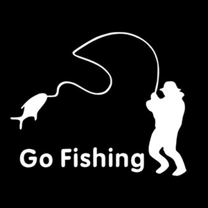 Image 2 - Outdoor Sports Fishing GO FISHING Stickers Car Accessories Car Stickers Decals Black Silver