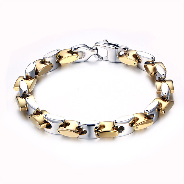The new popular stainless steel bracelet titanium steel men's fashion bracelet gift