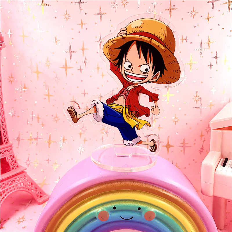 Anime One Piece Luffy Chopper Zoro Kecil Yang Lucu Acrylic Stand Model Action Figure Mainan Hadiah Aksi Toy Angka Aliexpress