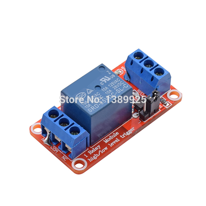 5pcs One 1 Channel 5V Relay Module Board Shield with Optocoupler Support High and Low Level Trigger for Arduino