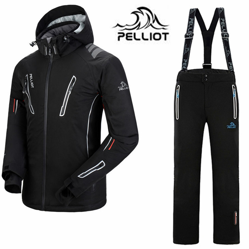 Pelliot бренд лыжный костюм мужская непромокаемая лыжная куртка сноуборд брюки 30 супер теплый открытый лыжный Сноубординг костюмы зимний лыжн