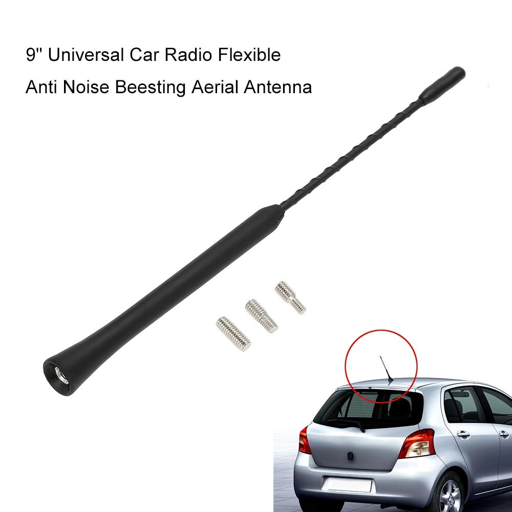 """9 """"Rádio Do Carro Universal Flexível Anti Ruído Beesting Aérea Antena"""
