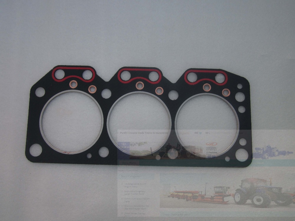 Laidong KAMA engine LL380B, cylinder head with head gasket (gasket is free), part number:  L380B-03101 taishan kama tractor parts the set of gasket kit for km804 with engine km804 part number 226b
