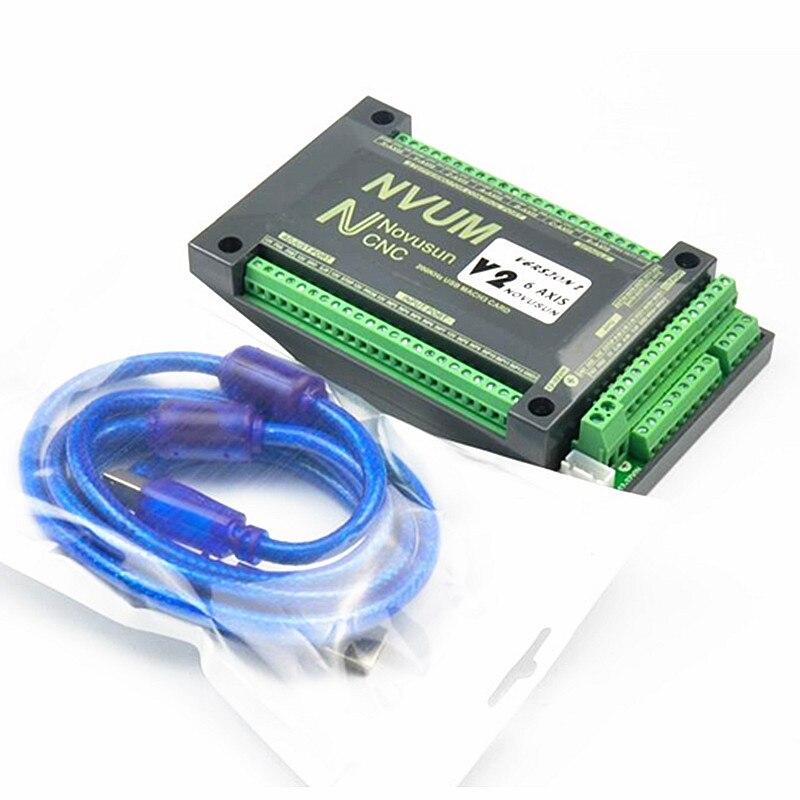 NVUM 4 Axis Mach3 USB карта 200 кГц фрезерный станок с ЧПУ 3 4 5 6 Axis плата управления движением Breakout для diy гравировальный станок