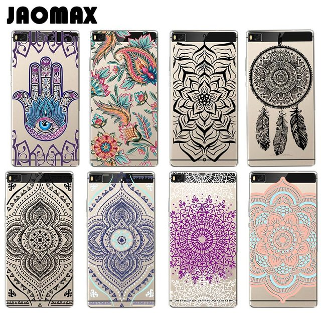 finest selection 756c7 a13c5 US $1.81 9% OFF|Flower Indian Mandala Henna Case For Huawei P10 P9 P8 Lite  Mate 8 9 Pro Honor 8 V8 5C Transparent Silicone TPU Phone Cover Coque-in ...