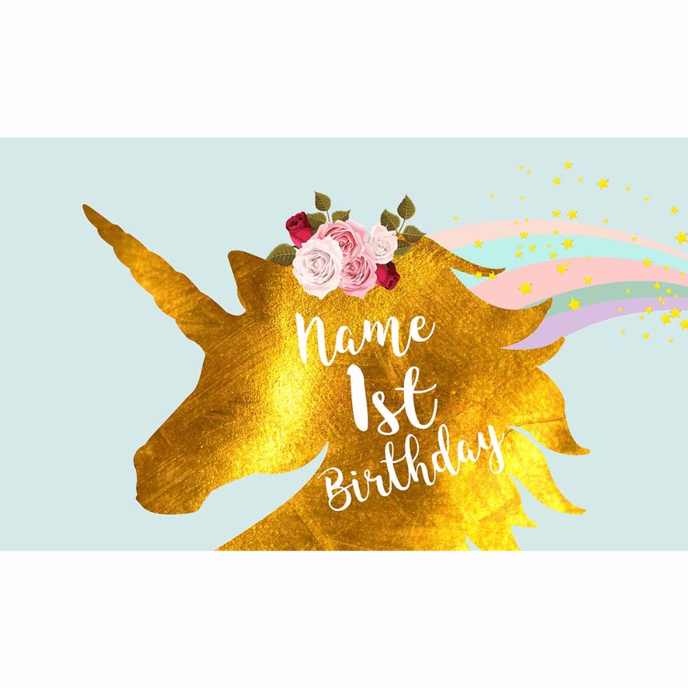 Allenjoy foto taust unicorn taustal sünnipäeva taust kuldne - Kaamera ja foto - Foto 4