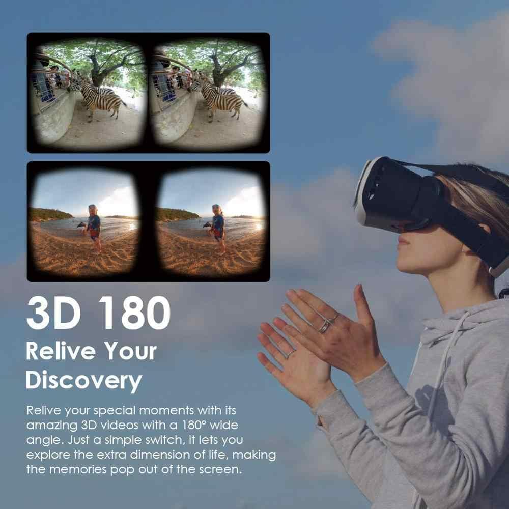 Appareil Photo QooCam 4K 360 & 3D VR 180-3 objectifs rotatifs, Mode Portrait, stabilisation vidéo, pince intelligente, ralenti 120 FPS, Photo 3D