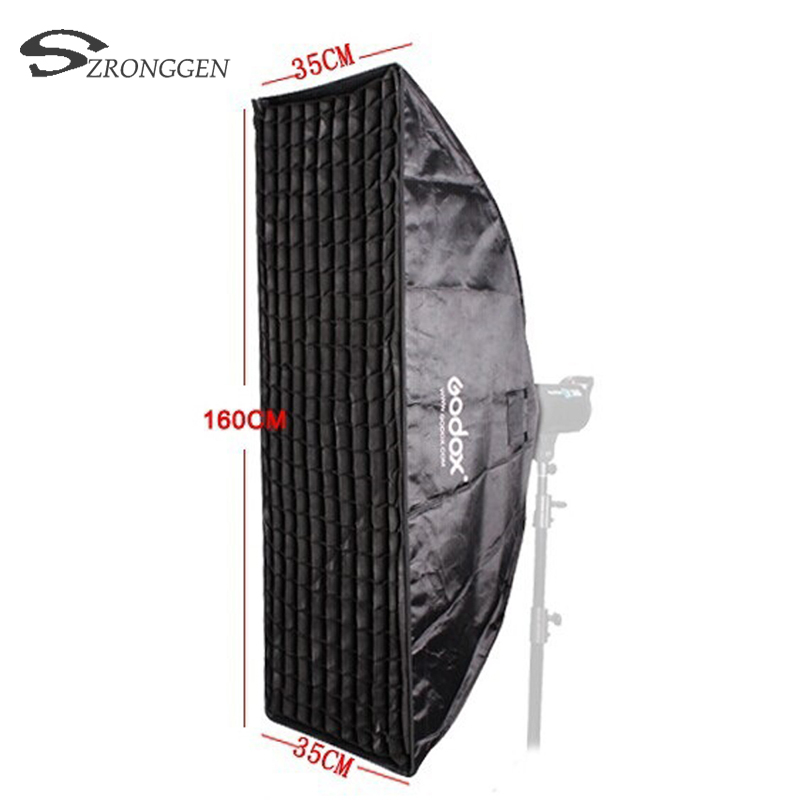 New Godox Pro Photo Studio Flash Strobe Softbox Soft Box Diffuser 35x160CM With Honeycomb Grid Bowens