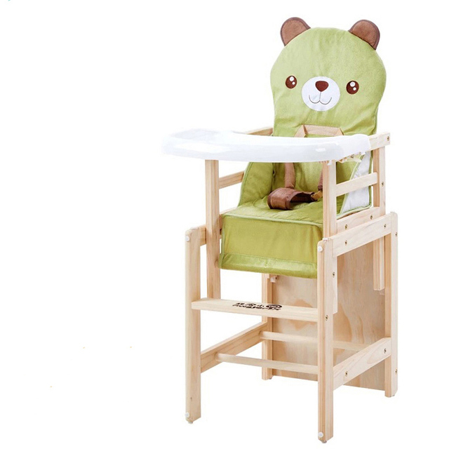 Soild Wood Baby High Chair Booster Seat Multi Function Adjustable Baby  Eating Dining Table Chair