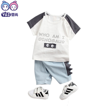 Sommer Mode Kinder Sets Einfache Baby Jungen Kleidung Brief Gedruckt Kinder Baumwolle Kleidung 2 stücke T-shirt + hose Hot Suits