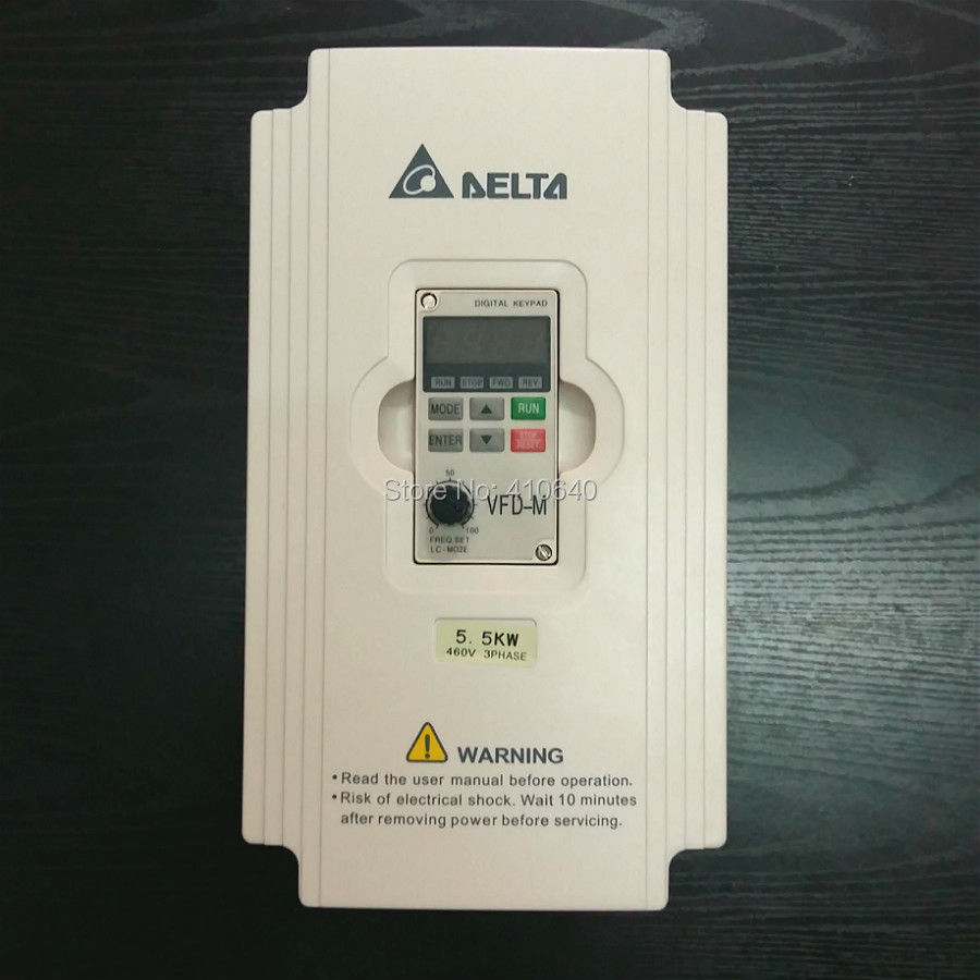 Delta Inverter 5.5 KW VFD055M43A 3 Phase 380V to 460V Rated 13A 100% New 5500W VFD Series Invertor Variable Speed AC Motor Drive шлифовальная шкурка в рулоне fit 38066