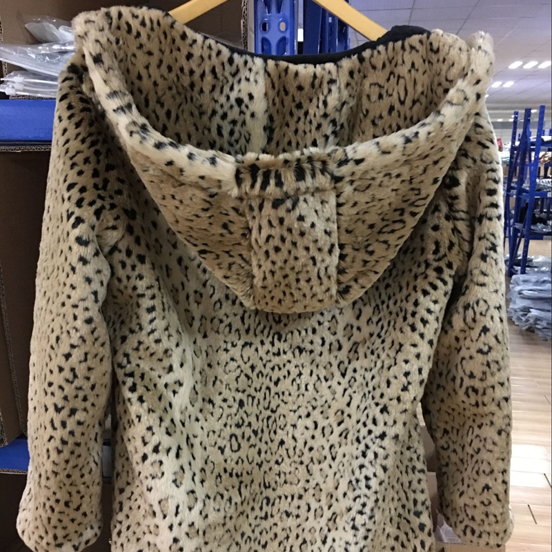 GOLPUS 2019 Women Top Winter Artificial Fur Coat Full Sleeve Faux Fur Leopard Coat Lady Faux Fur Outerwear Chaquetas Mujer C4311