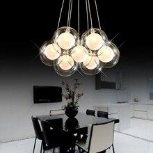 Современный творческий прозрачного стекла двухэтажные круглая люстра лампа DIY Главная деко гостиная Романтический G4 светодио дный лампы Люстра