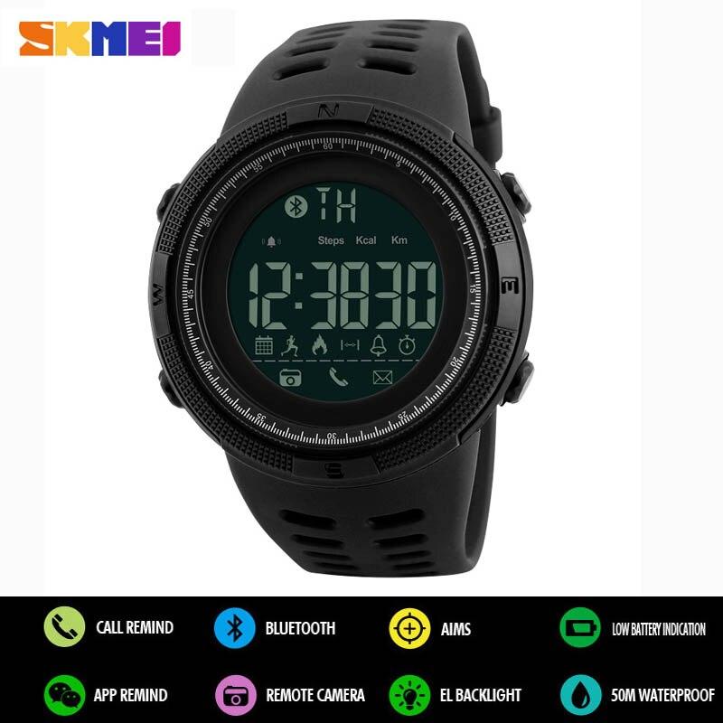 SKMEI Men Smart Watch Calories Pedometer Reminder Digital Sports Watches For Apple IOS Android Men Women Waterproof Wristwatches