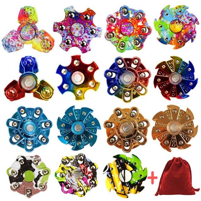 Новый EDC Мульти-Стиль Пальцев гироскопа ABS материал tri-Spinner аутизма и СДВГ время вращения Длинные анти-стресс Непоседа игрушки ручной spinner