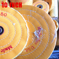 10 250mm Yellow Sawing Cloth Polishing Wheel For Various Glazing Machine To Buffing Metals Grinding Crystal