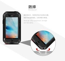 Водонепроницаемый чехол Love Mei для Apple iPhone, задняя крышка для iPhone SE 4,0 дюйма, противоударный алюминиевый чехол для iPhone 5SE/iPhone, задняя крышка для телефона