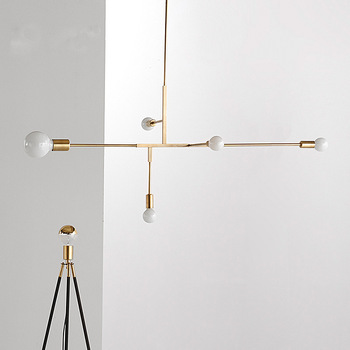 Винтажные промышленные золотые подвесные лампы Ретро Лофт подвесной светильник Черное золото для бара лестницы столовой подвесной светил