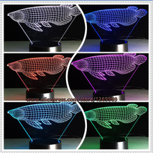 3D Fashion Simulation Fish Visual LED Night Light Lucky Arowana Table Lamp Decor Colorful Novelty Lighting Child Baby Toy Gifts