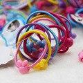 40 Pcs Alta Qualidade Caixa Redonda Bola Bandas Crianças Elastic Cabelo Laço Elástico de Cabelo Crianças Faixa De Cabelo de Borracha