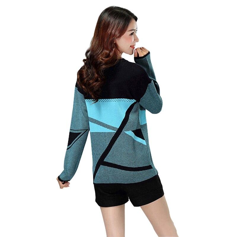 2018 frauen Beiläufiger Oansatz Strickpullover Frühling Herbst Winter Weibliche Gestrickte Pullover Plus Size Bodenbildung Shirt Freies Verschiffen