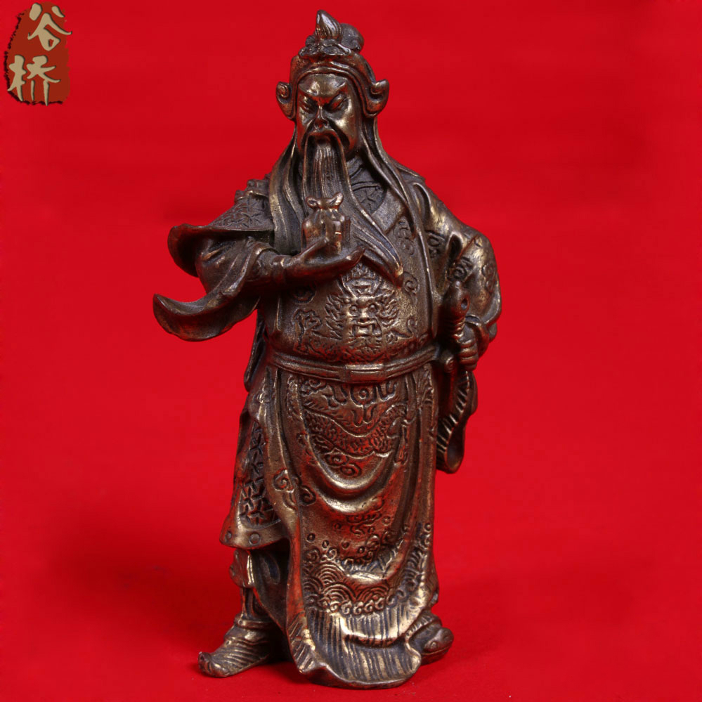 Bronze Sculpture, Guan Gong Decoration Crafts Mammographies Bronze Statue Of Guan Gong Copper Bronze Guan Gong Decoration