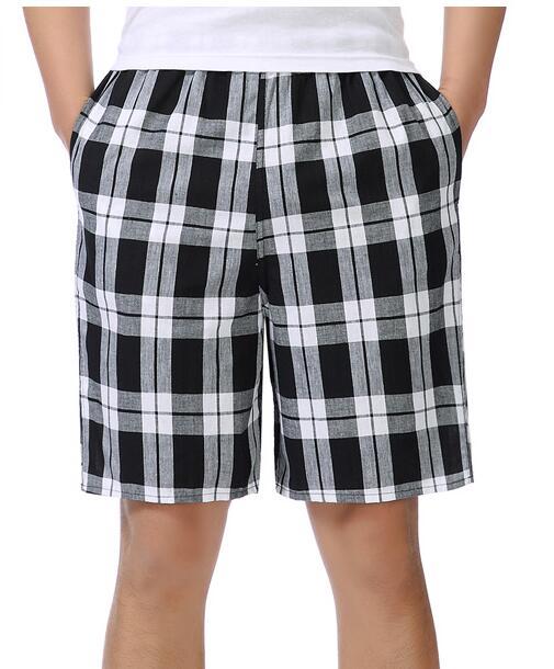 2018 verano algodón casual shorts sueltos cinco puntos de gran tamaño plaid shorts