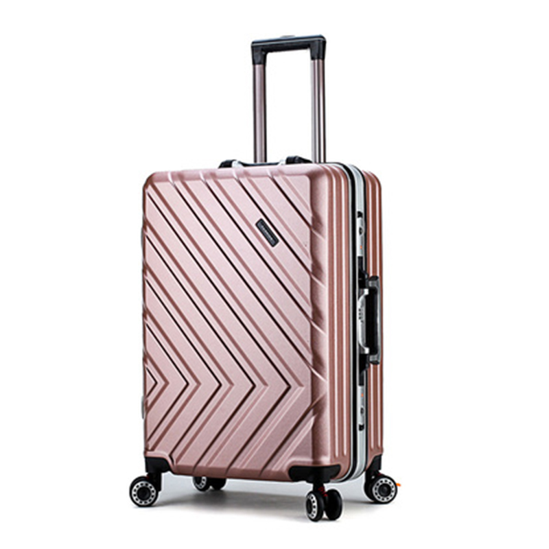 Travel suitcase Rolling Luggage Spinner trolley case Aluminum alloy 20/24inch boarding wheel Woman carry-on luggage travel bags