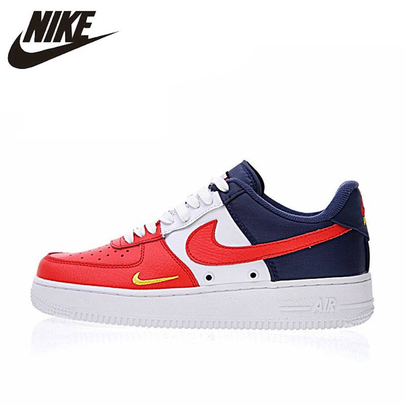 US $74.46 49% OFF Original Authentic Nike Air Force 1 Low Mini Swoosh Men's Skateboarding Shoes Sport Outdoor Sneakers 2018 New Arrival 823511 601 in