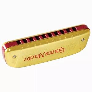 Image 4 - Hohner ARPA de arpa de 10 agujeros, arpa, Instrumento de boca, ABS, peine, llave C, Instrumento Musical, melodía dorada de Alemania, 542