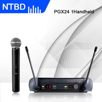 NTBD Hip Hop Home KTV Show Stage Performance Karaoke PGX24 Profissional Wireless Handheld Microphone High Quality Long Distance